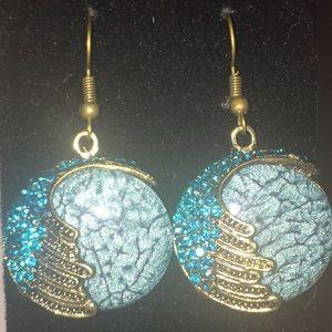 Retro Bohemian Opal Phoenix Earrings